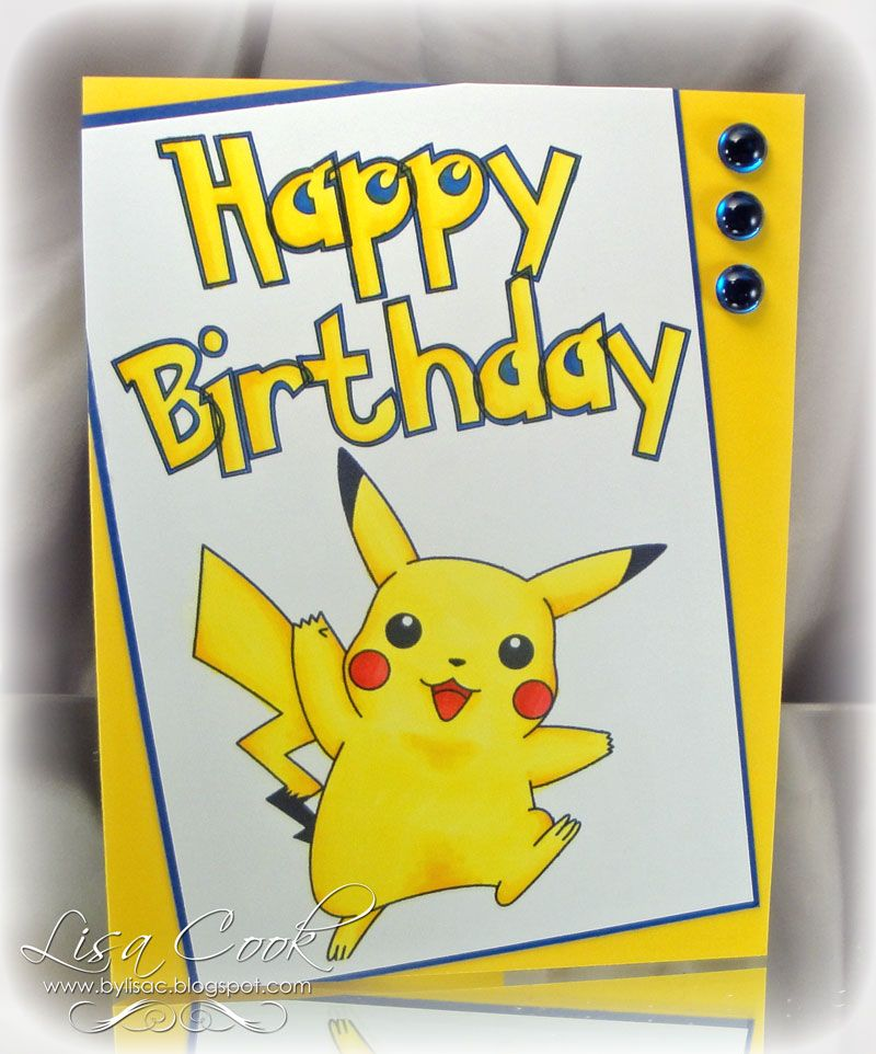 Image Result For Pokemon Birthday Card Cards List