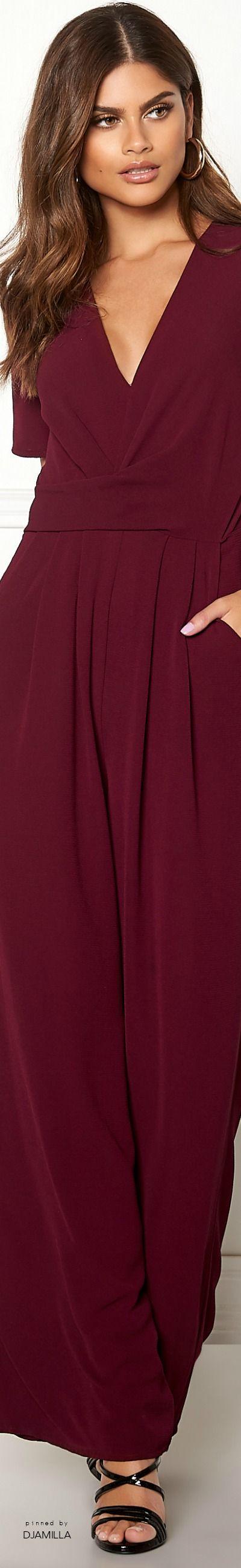 Make Way Harlee Jumpsuit Wine Red Fashion Shades Of Burgundy Glamour