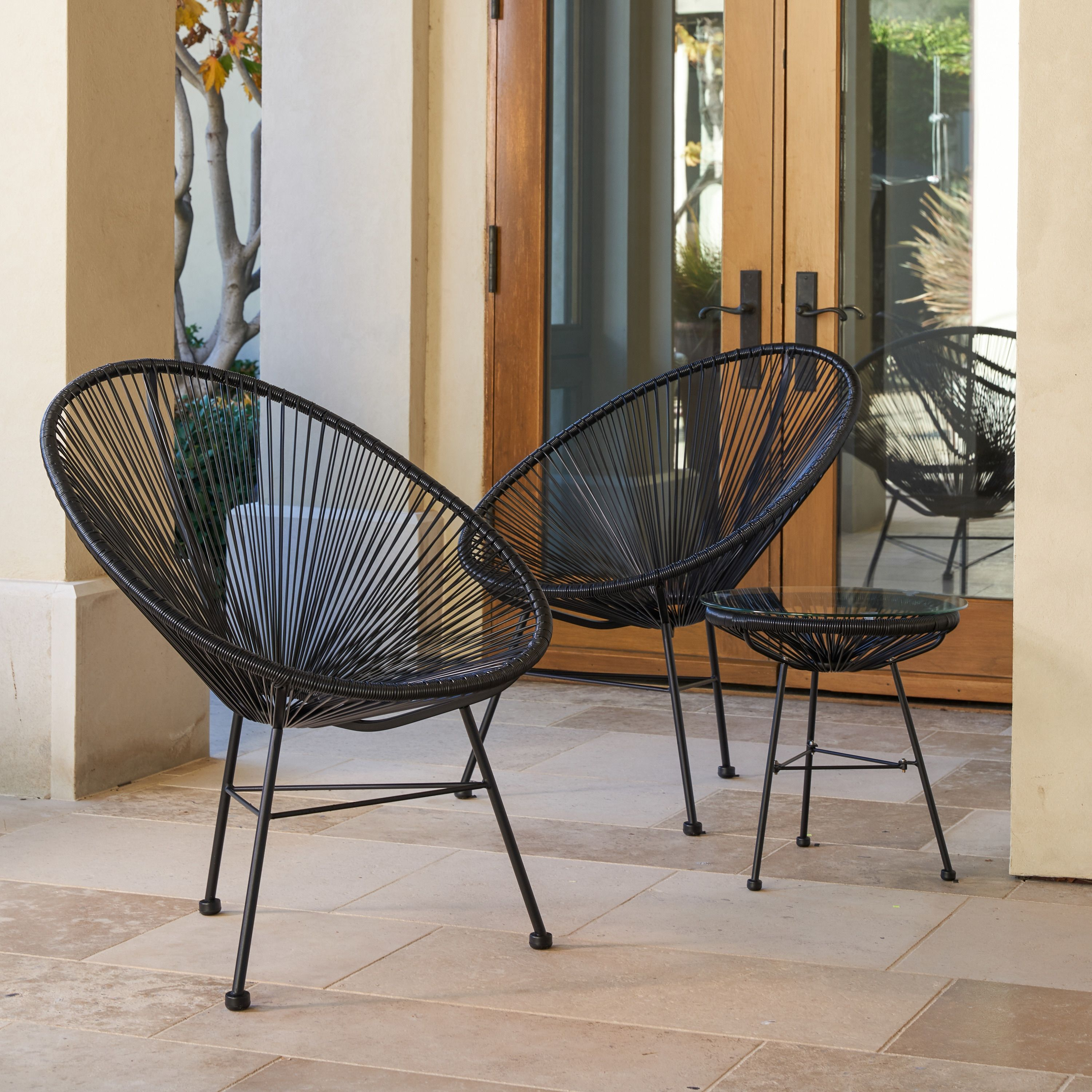 Fabulous Sarcelles Modern Wicker Patio Chairs By Corvus Set Of 2 Gmtry Best Dining Table And Chair Ideas Images Gmtryco
