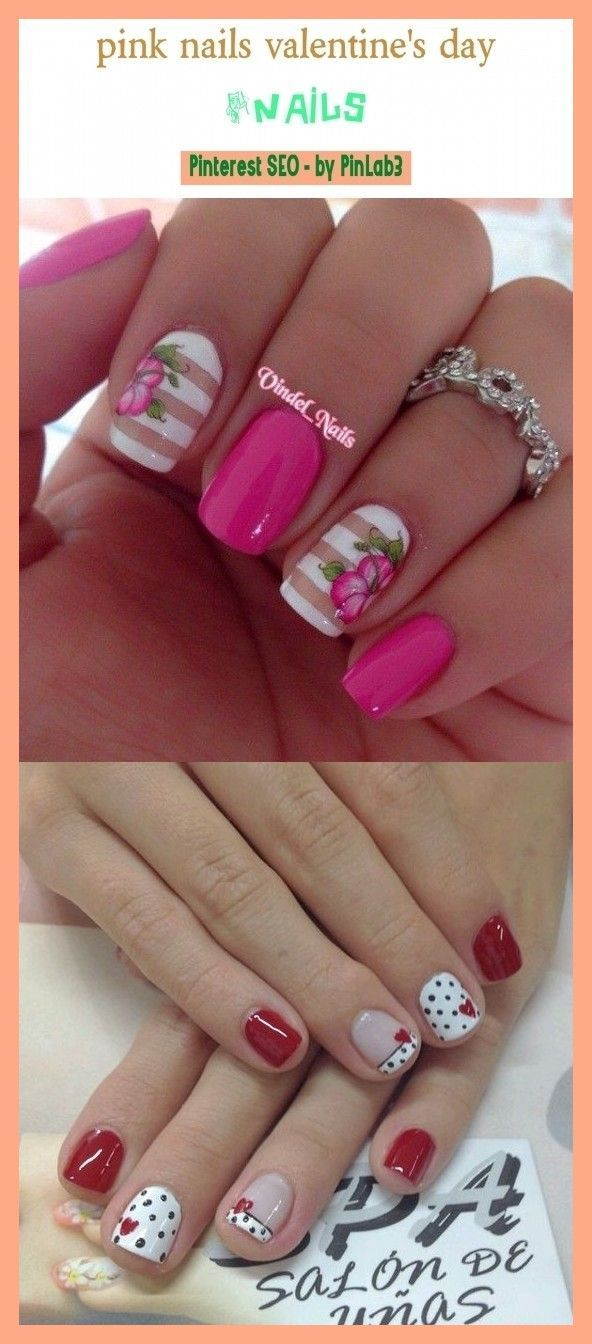 Photo of Pink nails valentine's day #nails #beauty. light pink nails, pink nails with gli…
