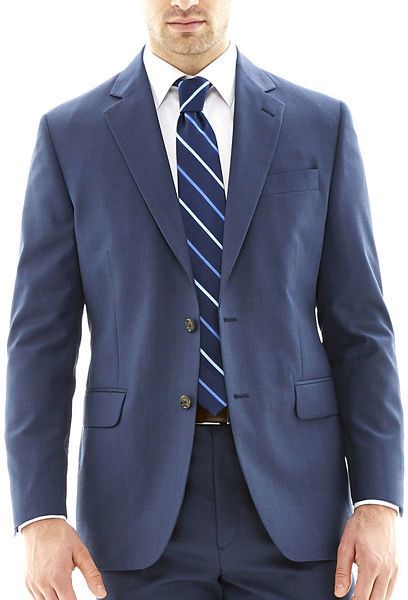$100, Stafford Travel Suit Jacket by jcpenney. Sold by jcpenney. Click for more info: http://lookastic.com/men/shop_items/202433/redirect