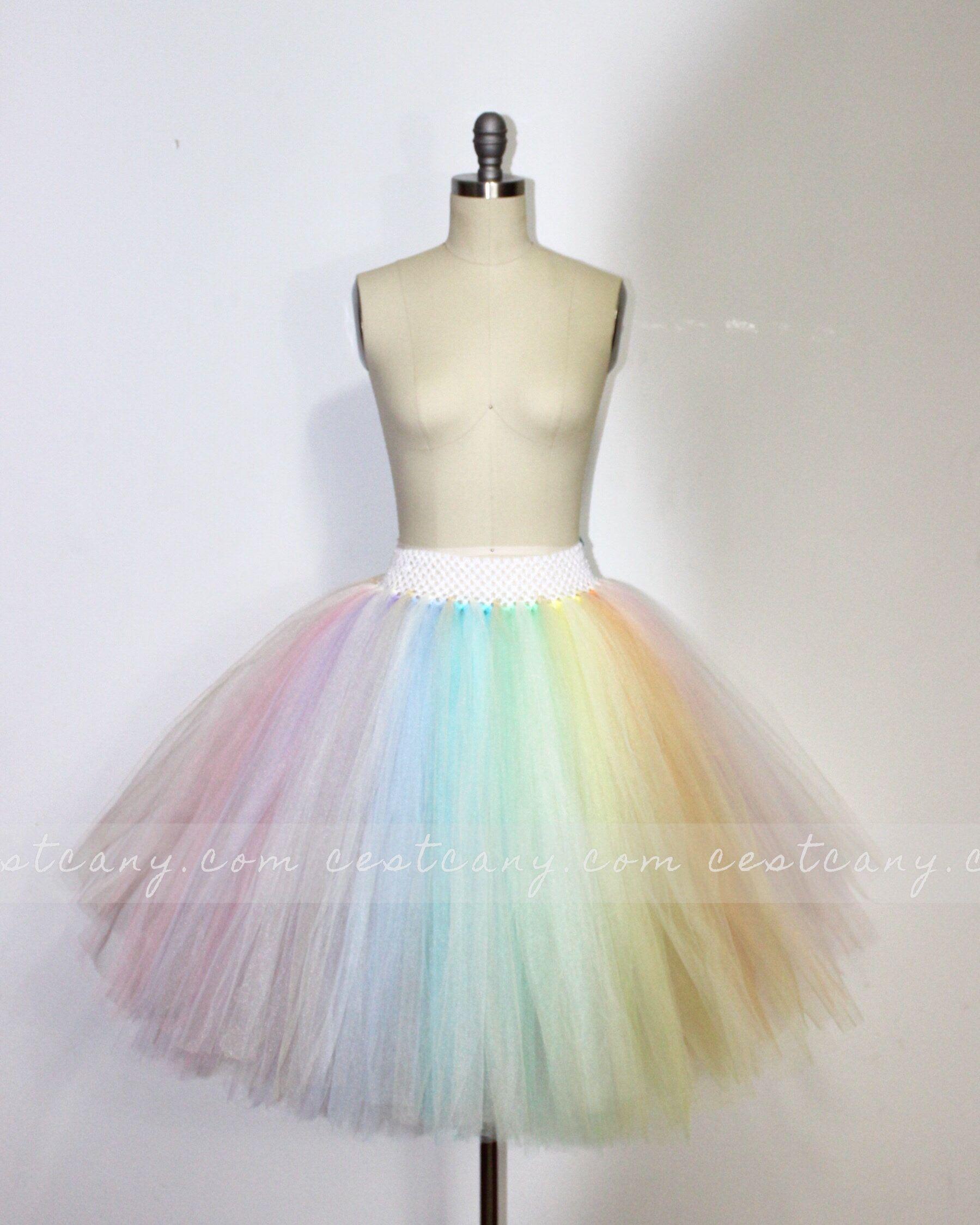 CHILDRENS PETTICOAT Fluffy Tulle Layered crinoline Childs Costume tutu S//M M//L