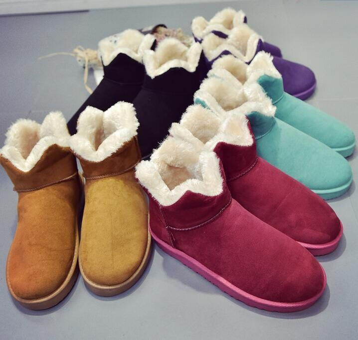 51fc8a062ff Womens Winter Snow Warm Ankle Boots Flat Round Toe Thicken Casual Shoes Hot  E188
