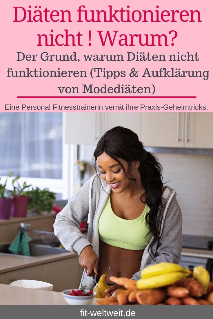 Der Grund, warum Diäten nichtfunktionieren Tipps & Aufklärung Modediäten