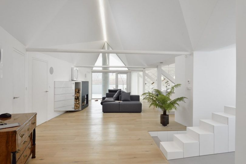 an attic apartment in slovenia with a faceted geometric ceiling rh pinterest co uk Peaceful Places Peaceful Home Decor