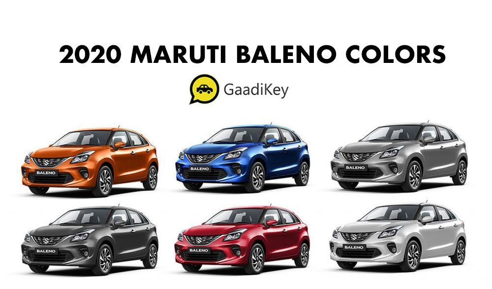 2020 Maruti Baleno Colors Blue Red Orange Grey Silver White