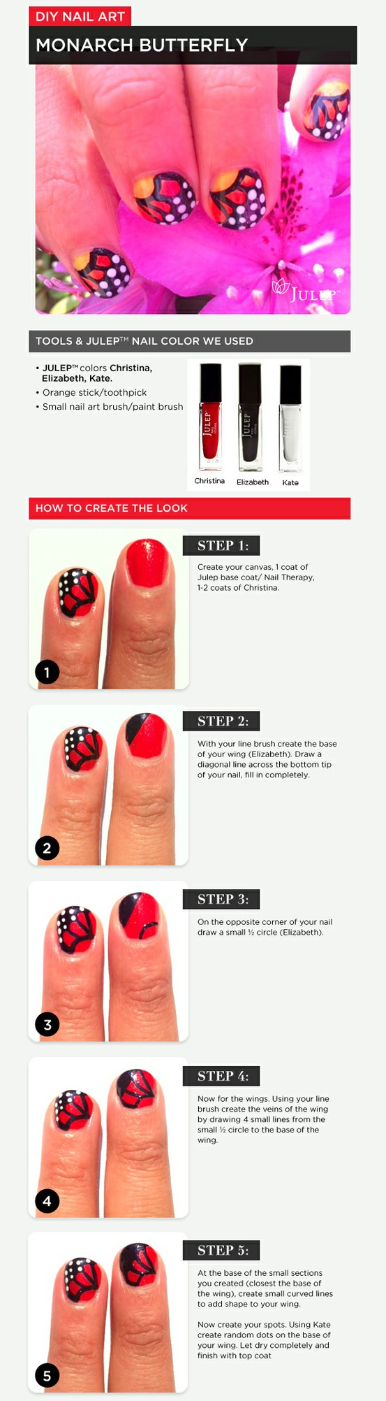 step by step instructions | My Style | Pinterest | Butterfly nail ...