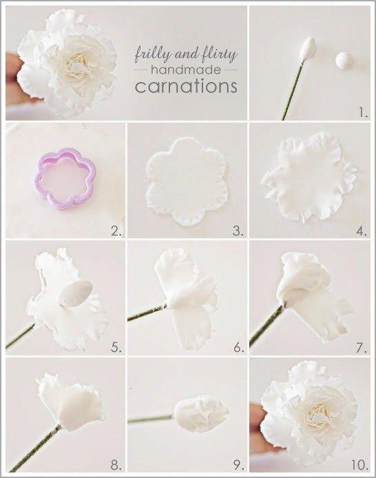 Gumpaste Carnation Flowers Tutorial Fondant Flower Tutorial Sugar Flowers Tutorial Fondant Flowers