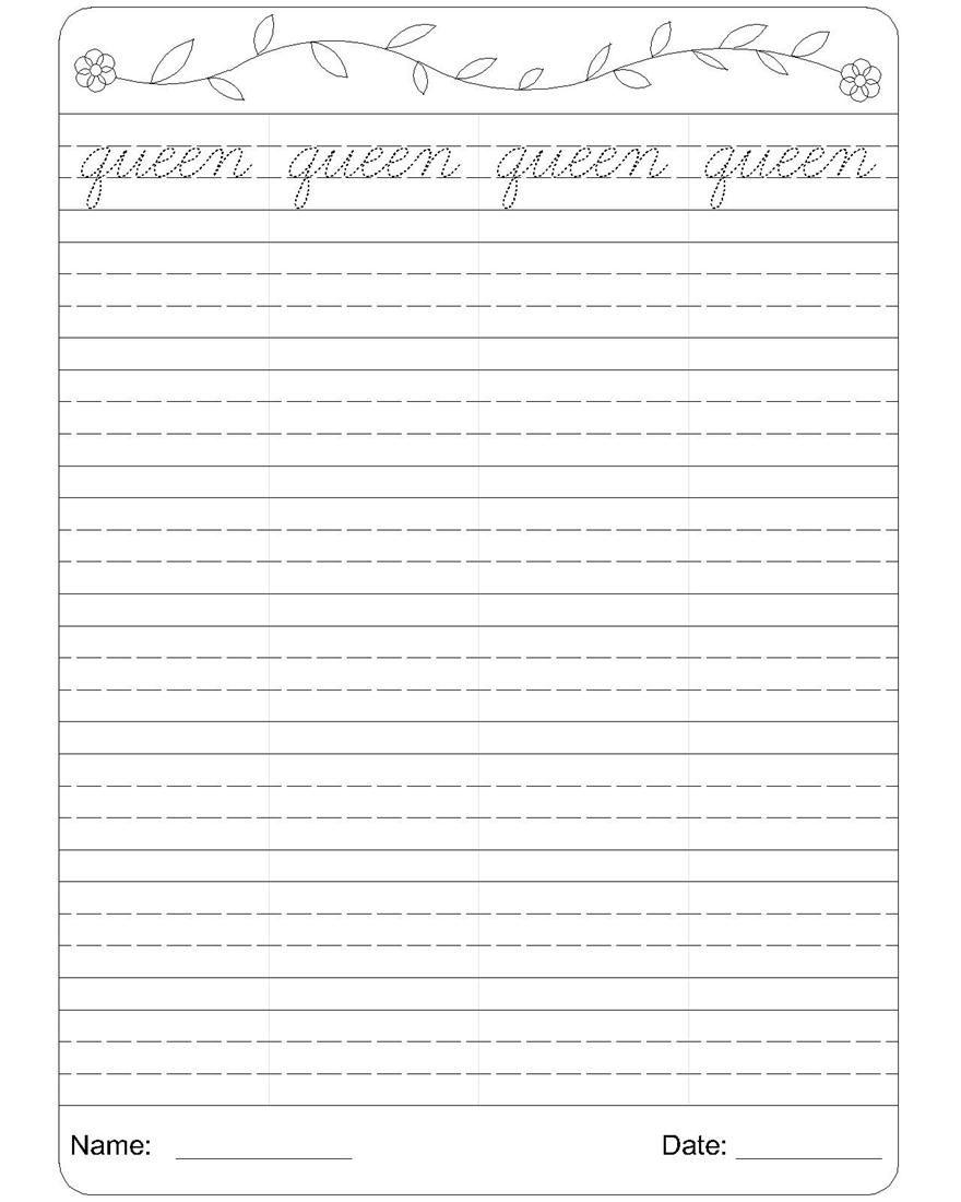 Cursive writing worksheet 17   Printables   Cursive writing worksheets [ 1100 x 880 Pixel ]
