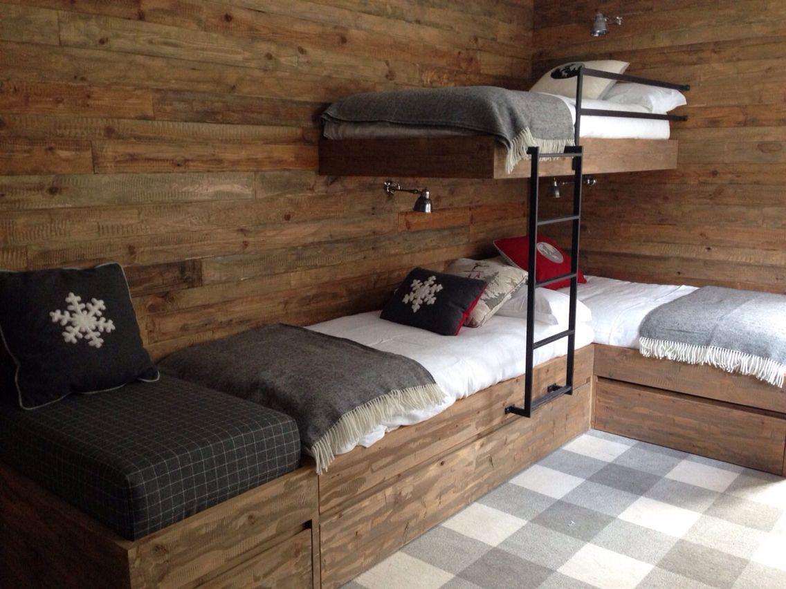 Bunk room chalet pinterest chalets zolder en interieur