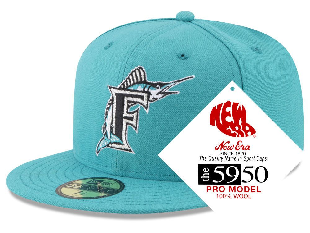 cceba6631d4 Florida Marlins New Era MLB Retro Classic 59FIFTY Cap