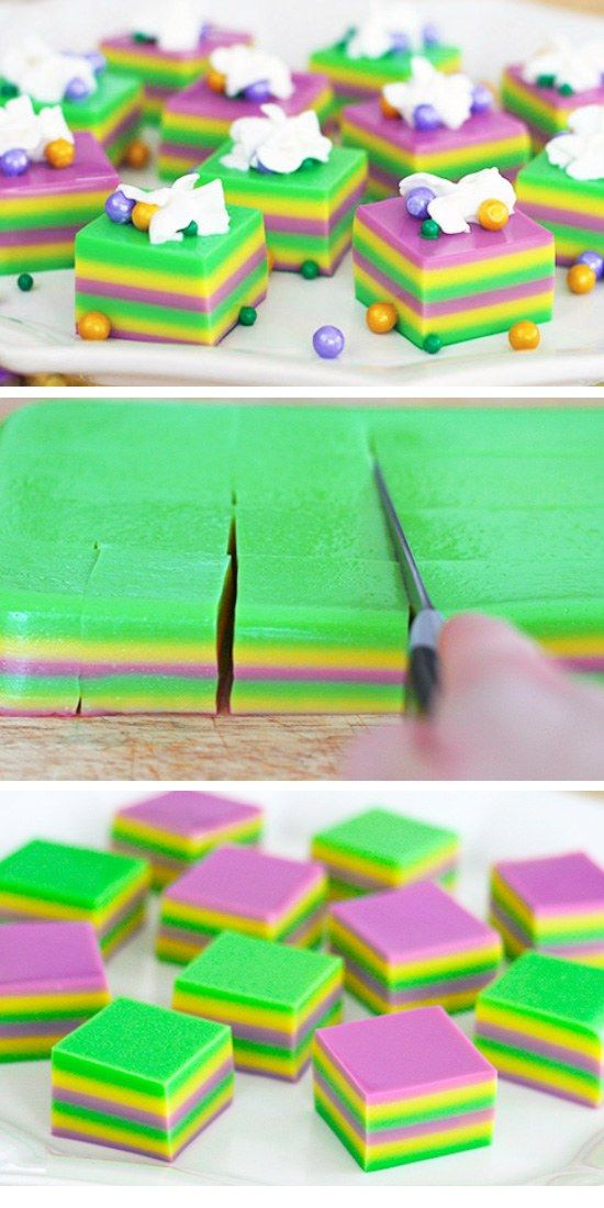 Mardi Gras Jelly Shots