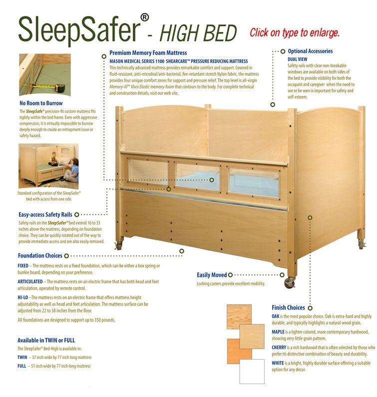 Sleep Safe Beds Tall Bed Sleep Safe Bed Bed