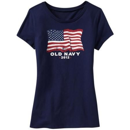 Old navy womens 2012 39 flag tee shirt clothing for Denim shirt women old navy