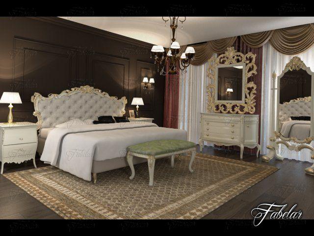 Bedroom 91 3D Model .max .c4d .obj .3ds .fbx .lwo .stl @3DExport.com by fabelar