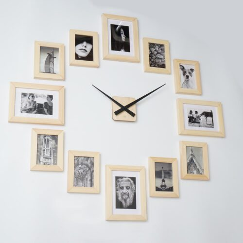 Picture Frame Clock 12 Wood Picture Frame Wall Frames On Wall Diy Clock Wall