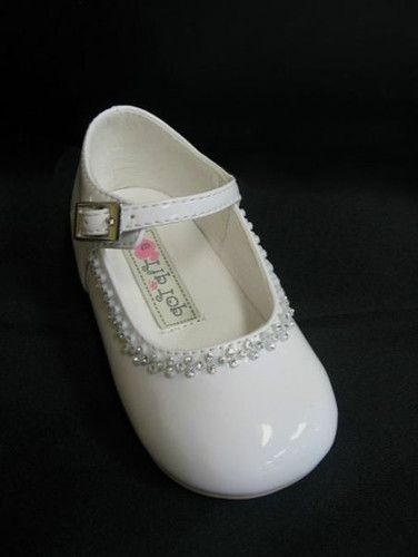2d2a6850088ea Infants /Toddlers Clear Rhinestones BABY GIRLS DRESS SHOES Chruch ...