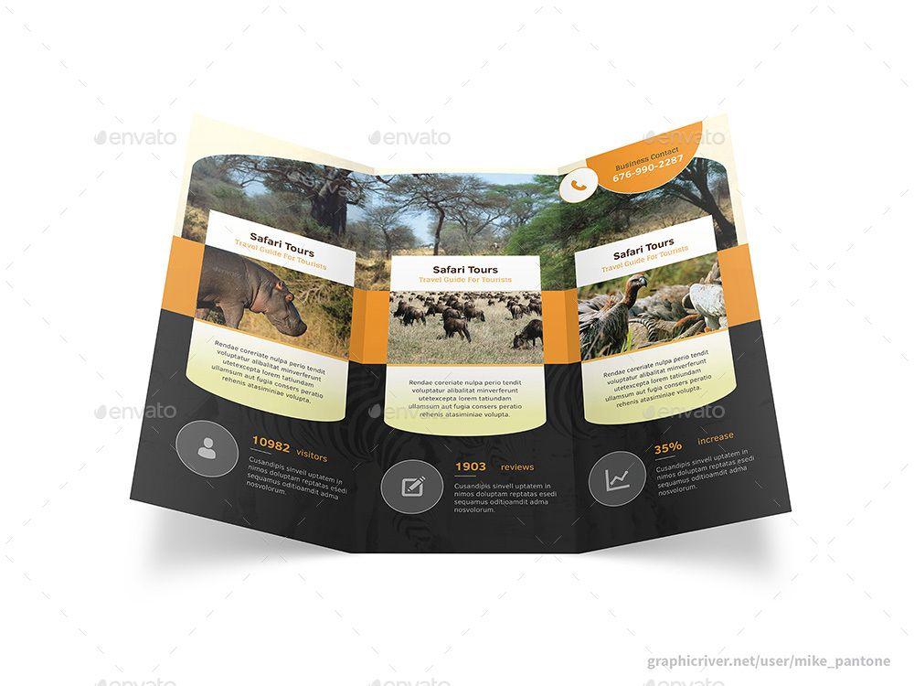 Africa Adventure Trifold Brochure Adventure Print Africa
