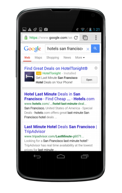 Google To Offer Targeted Mobile App Install Ads In Search And