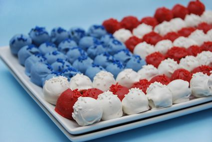 Flag made out of cake balls