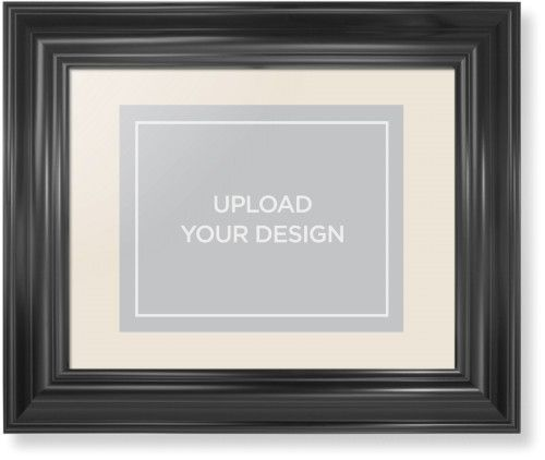 Upload Your Own Design Framed Print, Black, Classic, None, Cream, Single piece, 8 x 10 inches