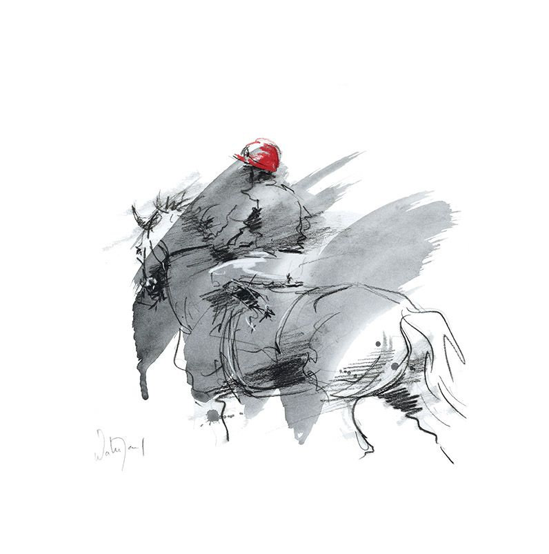 Rouge, Limited Edition Horse Racing Print by French Equestrian ...