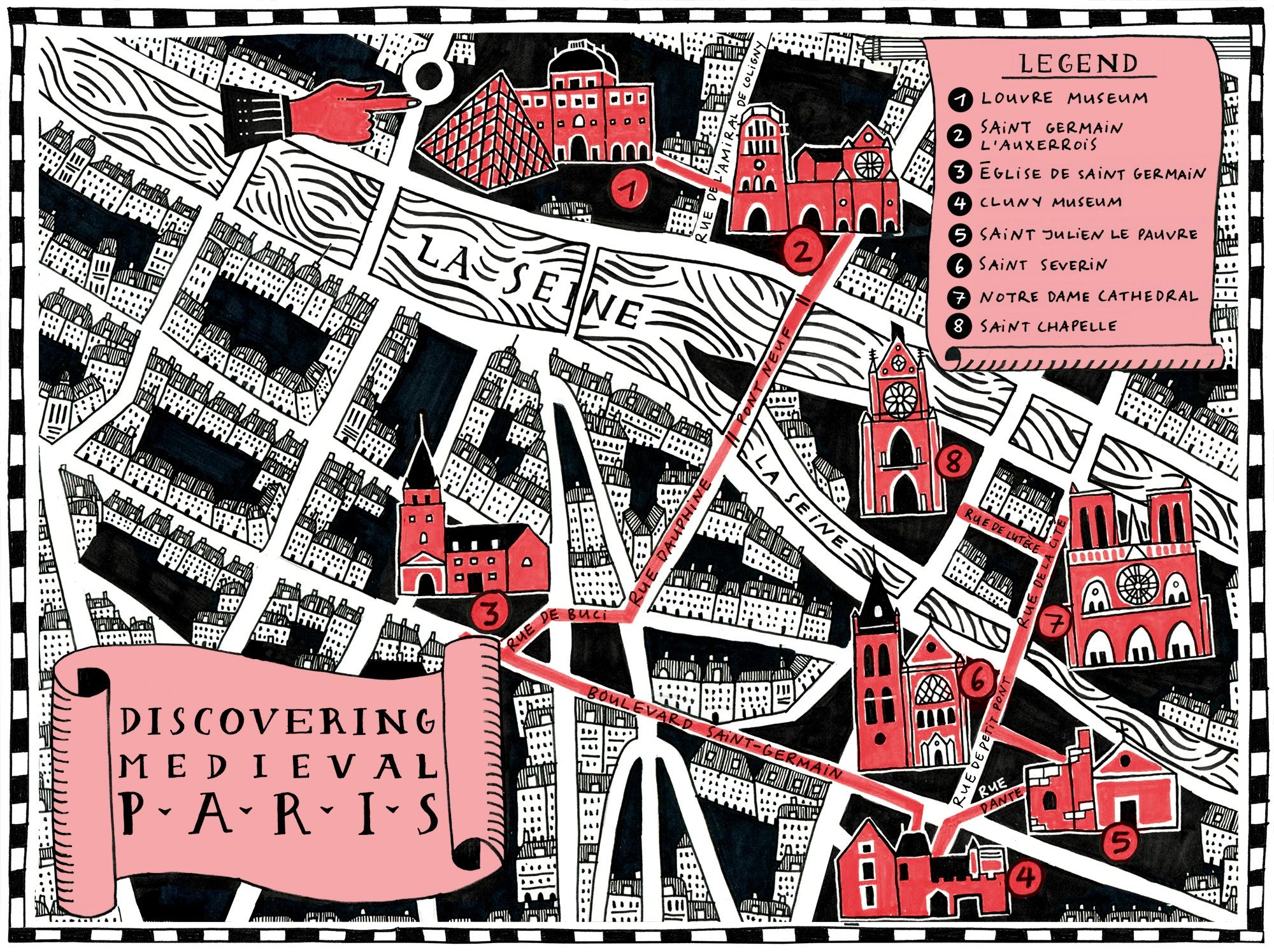 Discovering Medieval Paris Map #infographic