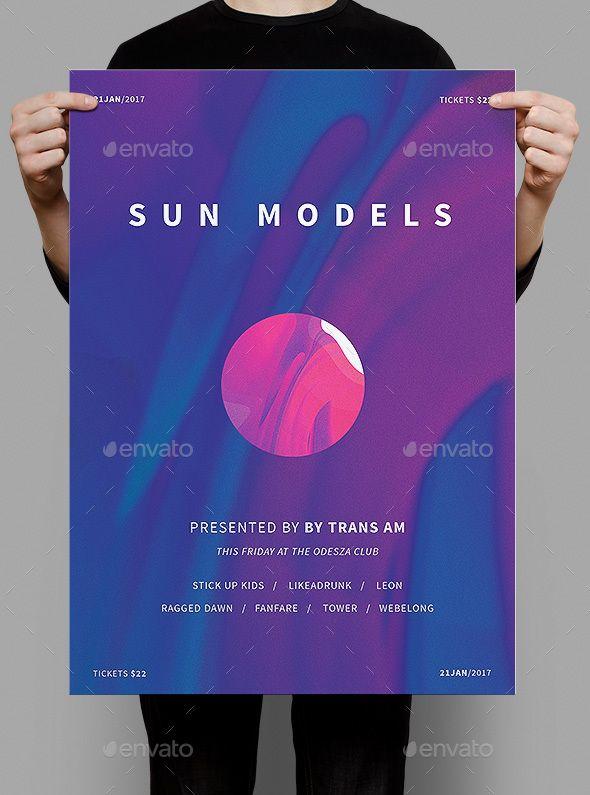 Sun Models Poster / Flyer | Pinterest | Club parties, Flyer template ...