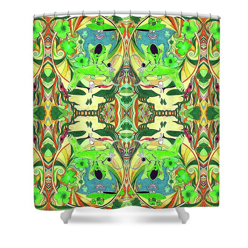 The Grateful Dead Shower Curtain Featuring The Drawing Shamrock