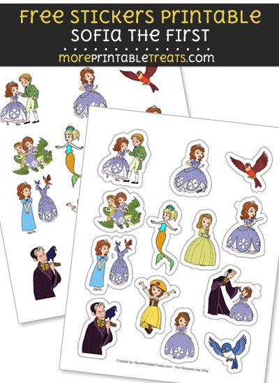FREE Sofia the First Stickers Printable to Print at Home Princess