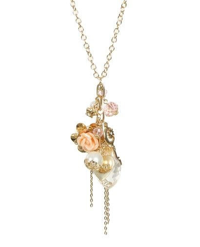 Pink Heart Charm Necklace from WetSeal.