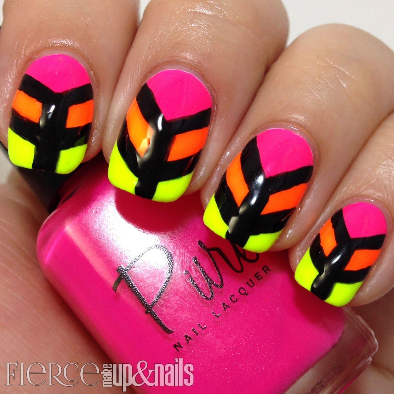 fierce makeup and nails #nail #nails