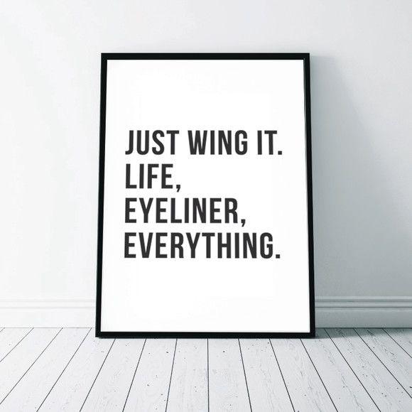 Just wing it wall art print