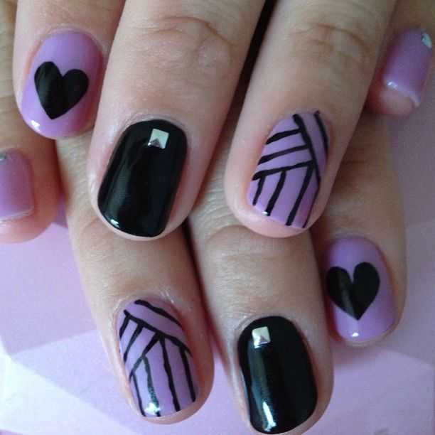 Purple and Black Nails - 2014 Trendy Nail Designs You Must Have Black Nails, Purple Nail