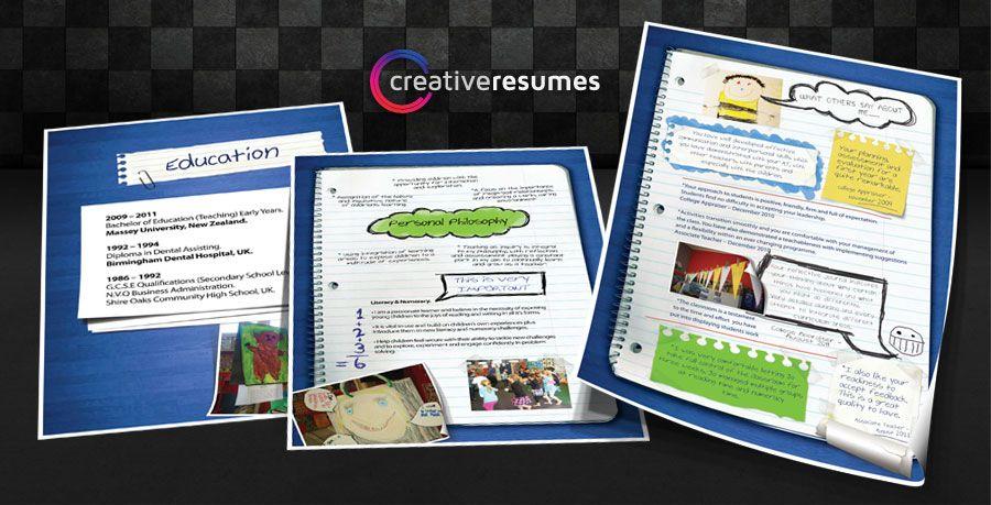 Example of a creative teaching resume Teacher resumes Pinterest - resumes on pinterest