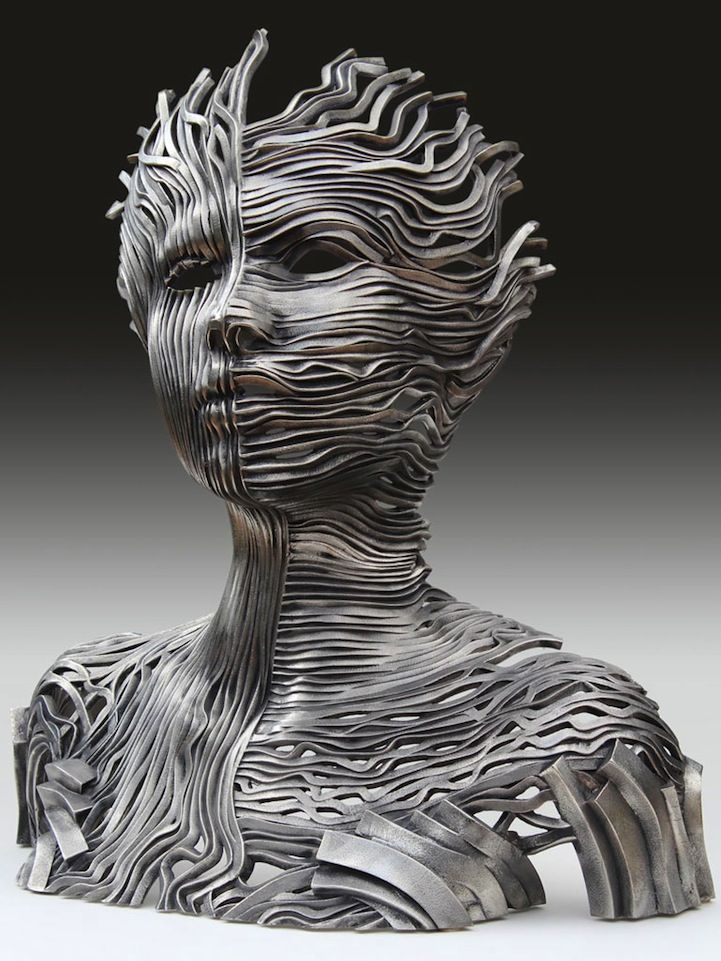 Figurative Sculptures Made of Stainless Steel Ribbons - My Modern Metropolis
