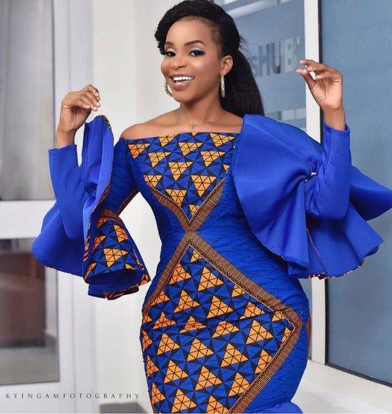 Pretty African Print Dress, Ankra Dress, Kitenge Dress, African Dress #africanprintdresses