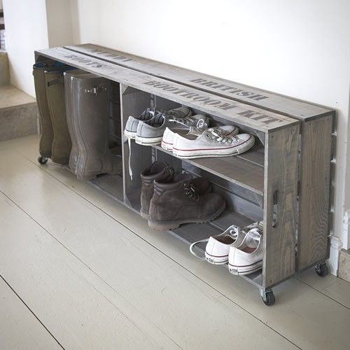 Welly Crate | Mud room | Pinterest