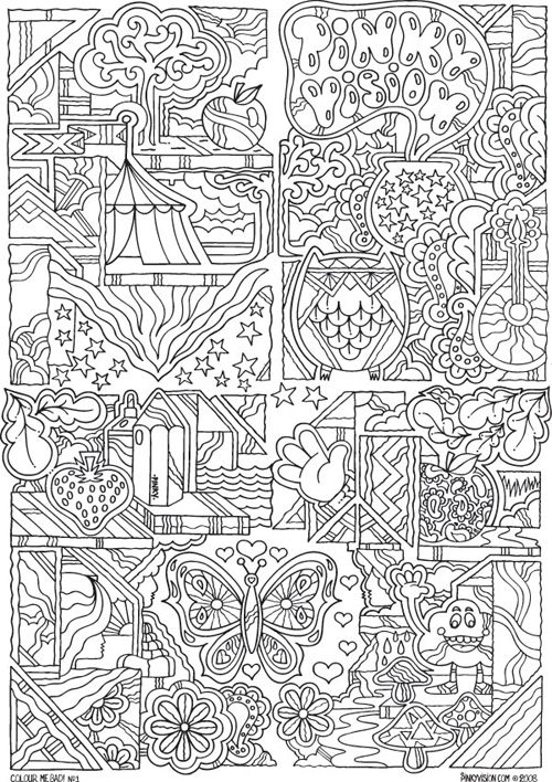 Abstract Doodle Zentangle Coloring Pages Colouring Adult Detailed Advanced Printable Kleuren Voor Volwassenen Coloriage Coloring Pages For Adults 3 Color