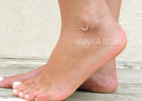 Triangle Anklet Gold Or Silver Delicate Anklet by annikabella