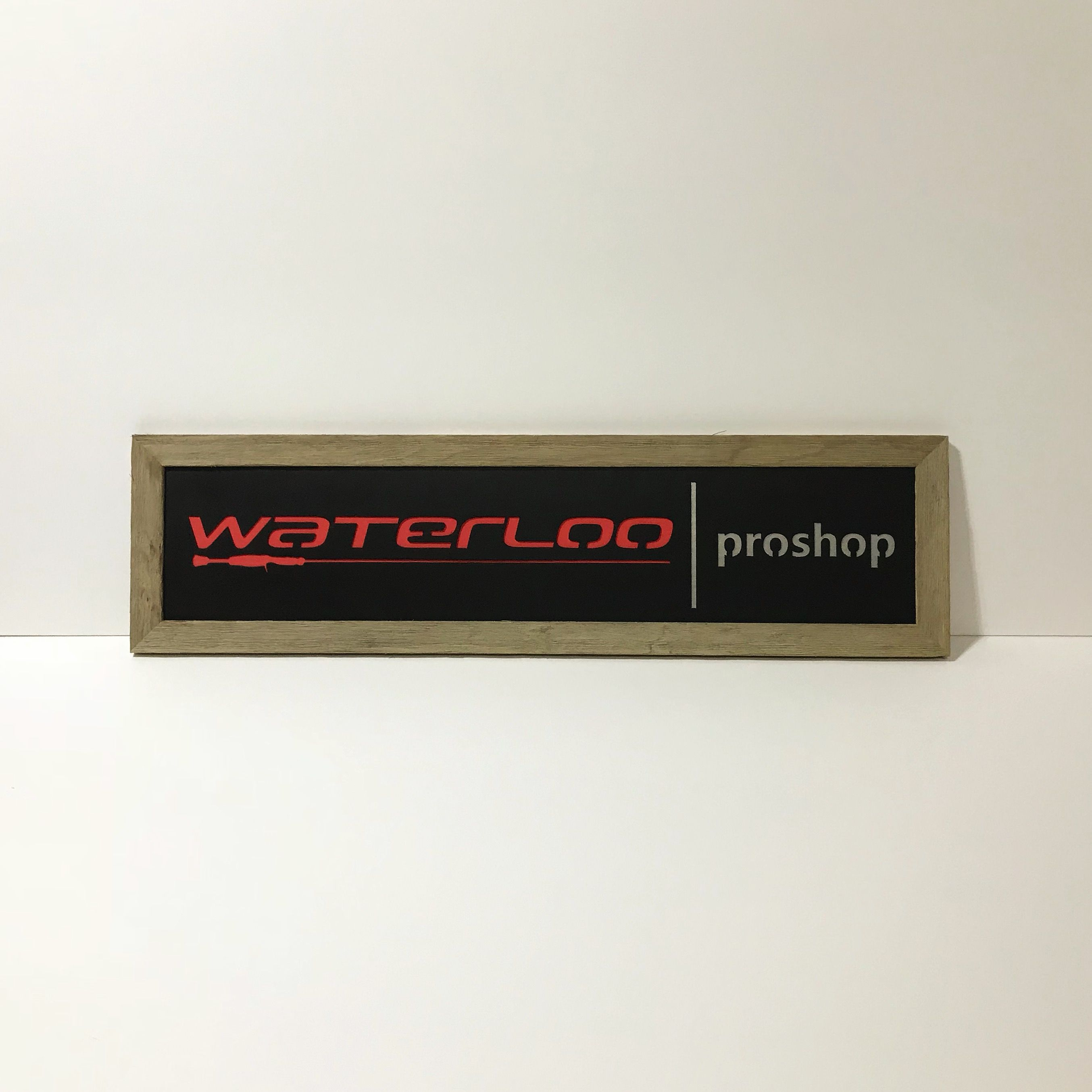 Custom Sign we made for Waterloo Rods Pro Shop in Victoria