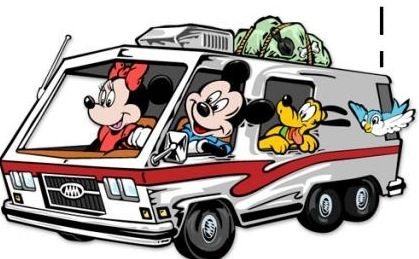Mickey And Minnie Road Trip With Images Disney Friends Minnie