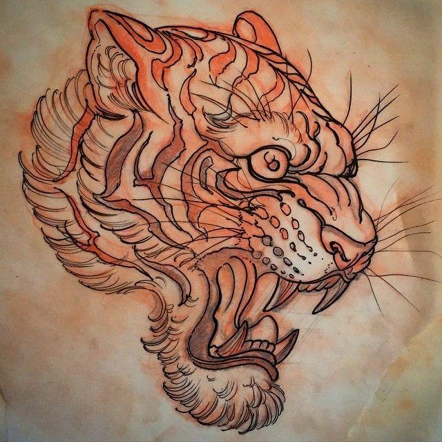 risultati immagini per neo traditional tiger andrew tattoo design pinterest. Black Bedroom Furniture Sets. Home Design Ideas