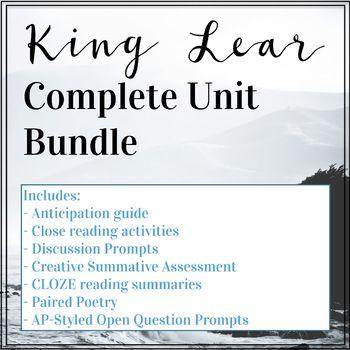 King lear essay prompts