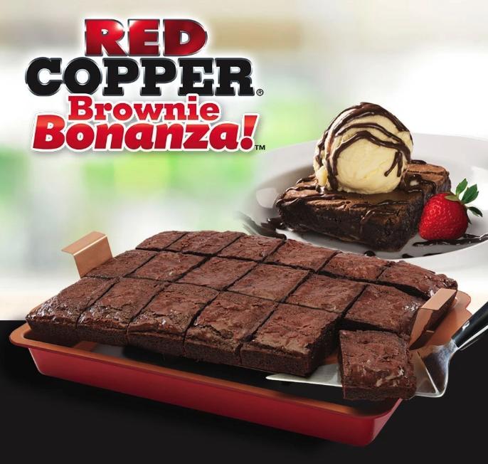 Deluxe Red Copper Brownie Bonanza Pan 2 Pack No Bake Brownies