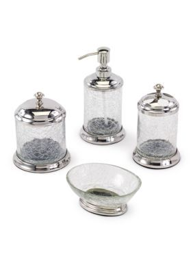 crackle glass bathroom accessories. Avanti Crackle Glass Bathroom Accessories Collection  Glass