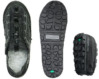 Fold-in-Half, Zip-up Backpacking Shoe