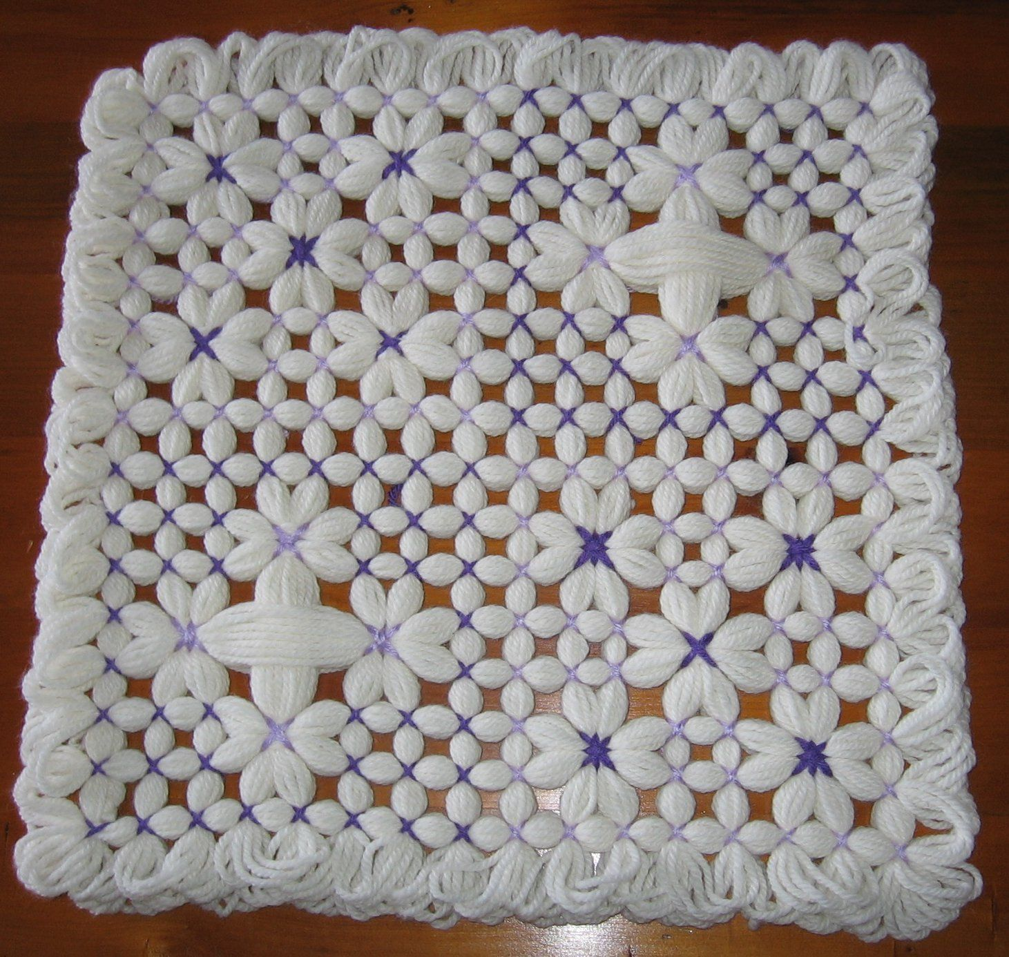 Baby Blanket  Made with a Butterfly Loom