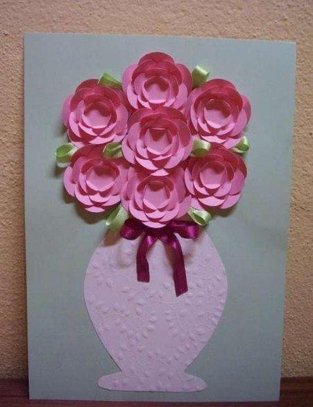 Blumen Aus Papier Basteln blumenvase mit blumen aus papier basteln dekoking com 2