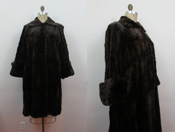 In the 1970s many young women wore old fur coats from the 1940s.  Mine was quite like this one.  I bought it for $10 at the Salvation Army.
